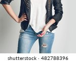 details of women's clothing. a... | Shutterstock . vector #482788396