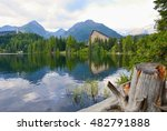 wide angle landscape shot with... | Shutterstock . vector #482791888