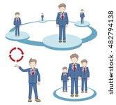 businessmen groups and team...   Shutterstock .eps vector #482794138