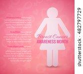breast cancer october awareness ... | Shutterstock .eps vector #482797729