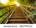 staircase pathway in the... | Shutterstock . vector #482799124
