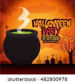 poster halloween party with... | Shutterstock .eps vector #482800978