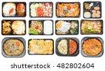 different types of takeaway... | Shutterstock . vector #482802604