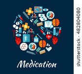 medication and medical... | Shutterstock .eps vector #482804080