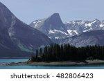upper kananaskis lake and rocky ... | Shutterstock . vector #482806423
