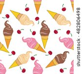 ice cream cone. hand drawn... | Shutterstock .eps vector #482806498