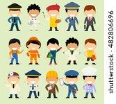 cartoon character set of people ... | Shutterstock .eps vector #482806696
