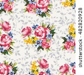 seamless floral pattern with... | Shutterstock .eps vector #482820928