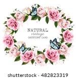 natural vintage greeting frame...   Shutterstock .eps vector #482823319
