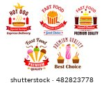 fast food icons set. snacks ... | Shutterstock .eps vector #482823778