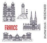 historic landmarks ... | Shutterstock .eps vector #482824600