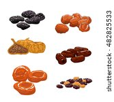dried fruits set. isolated... | Shutterstock .eps vector #482825533