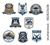 hunting club icons set. vector... | Shutterstock .eps vector #482825638