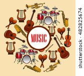 music poster with wind and... | Shutterstock .eps vector #482825674