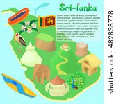 cartoon sri lanka map....