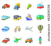 cartoon transport icons set.... | Shutterstock . vector #482839258