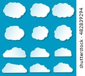 cartoon clouds icons set....