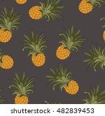 seamless pineapples pattern...   Shutterstock .eps vector #482839453
