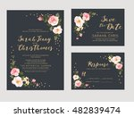 wedding invitation card suite... | Shutterstock .eps vector #482839474