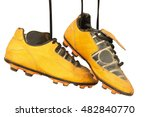 A Pair Of Old Football Boots O...