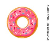 donut with pink glaze. donut... | Shutterstock .eps vector #482848849