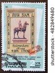bangkok   a old stamp printed...   Shutterstock . vector #482849680