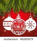 card ball merry christmas... | Shutterstock .eps vector #482850079