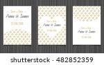 modern wedding invitation with... | Shutterstock .eps vector #482852359