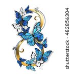 figure eight of gold  decorated ... | Shutterstock .eps vector #482856304