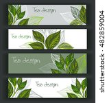 set of horizontal banners... | Shutterstock .eps vector #482859004