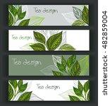 set of horizontal banners... | Shutterstock .eps vector #482859004
