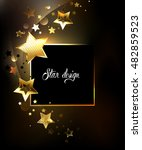 Square Banner With Gold  Jewels ...