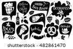 oktoberfest set. food and drink ... | Shutterstock .eps vector #482861470