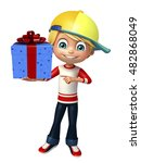 3d rendered illustration of kid ... | Shutterstock . vector #482868049