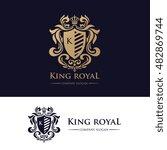 king royal logo  luxury brand... | Shutterstock .eps vector #482869744