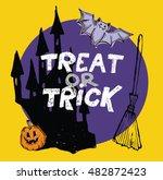 treat or trick. halloween... | Shutterstock .eps vector #482872423
