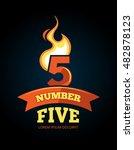 cartoon label of flaming... | Shutterstock . vector #482878123