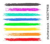 grunge colorful chalk stripes.... | Shutterstock .eps vector #482879908