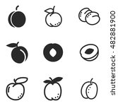 apricot vector icons. simple...