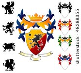 coat of arms   griphon | Shutterstock .eps vector #48288355