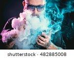 men with beard  in sunglasses... | Shutterstock . vector #482885008