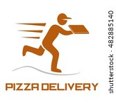 delivery logo template | Shutterstock .eps vector #482885140