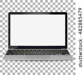 vector laptop isolated on white ... | Shutterstock .eps vector #482885479