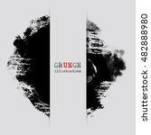 black abstract design. ink... | Shutterstock .eps vector #482888980