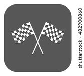 the checkered flag icon. finish ... | Shutterstock . vector #482900860