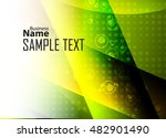 green abstract template for... | Shutterstock .eps vector #482901490