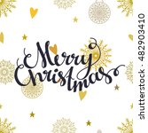 holiday merry christmas... | Shutterstock .eps vector #482903410