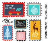 christmas holiday marks. icons  ... | Shutterstock .eps vector #482908600