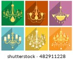 set of vintage and luxury...   Shutterstock .eps vector #482911228