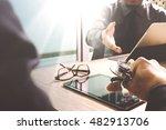 medical technology network team ... | Shutterstock . vector #482913706